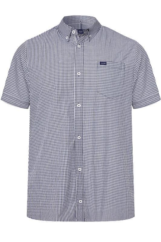BadRhino Navy Gingham Short Sleeve Shirt