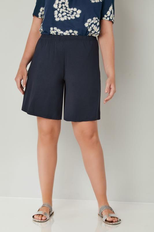 Navy Jersey Pull On Shorts