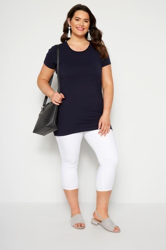 Navy Longline T-Shirt