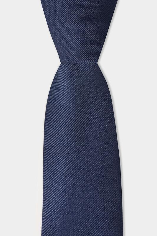 SCOTT & TAYLOR Navy Twill Tie