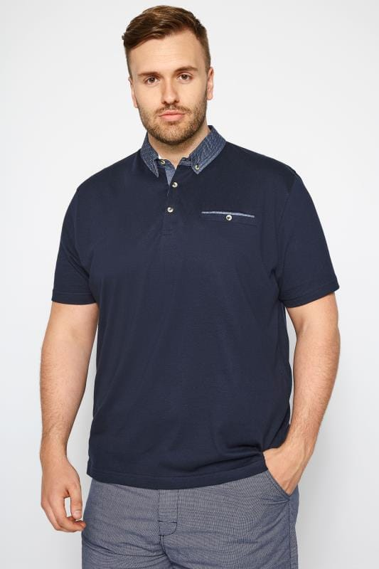 T-Shirts Navy Smart Polo Shirt 201042