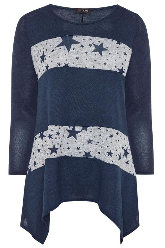 Navy Star Colour Block Swing Tunic