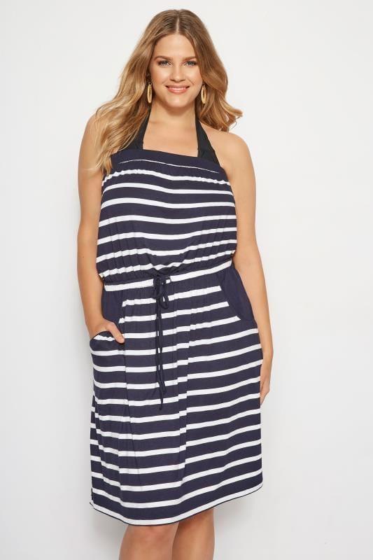 Navy Stripe Beach Dress