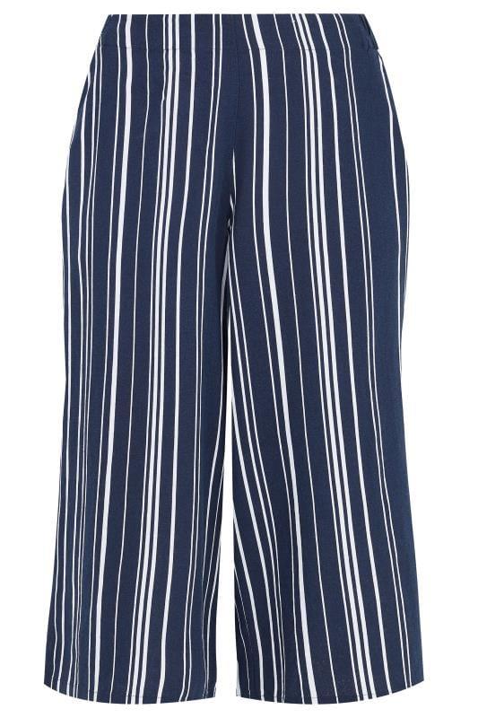 Navy Stripe Linen Mix Culottes