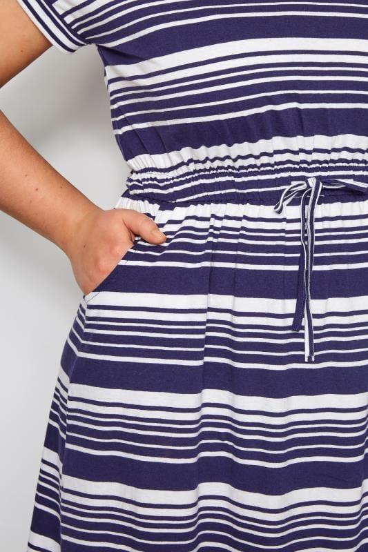 Navy Stripe T-Shirt Dress