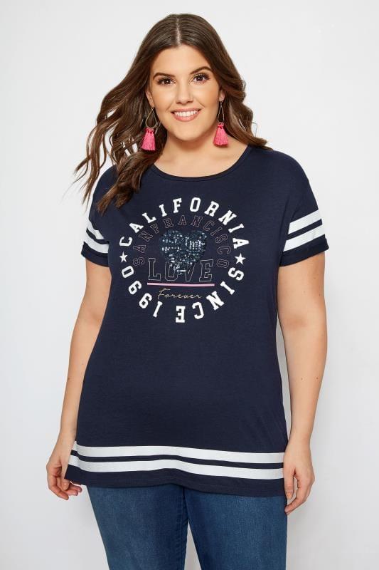 Navy Varsity T-Shirt