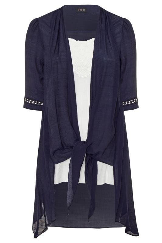 Navy & White 2 in 1 Crochet Tunic