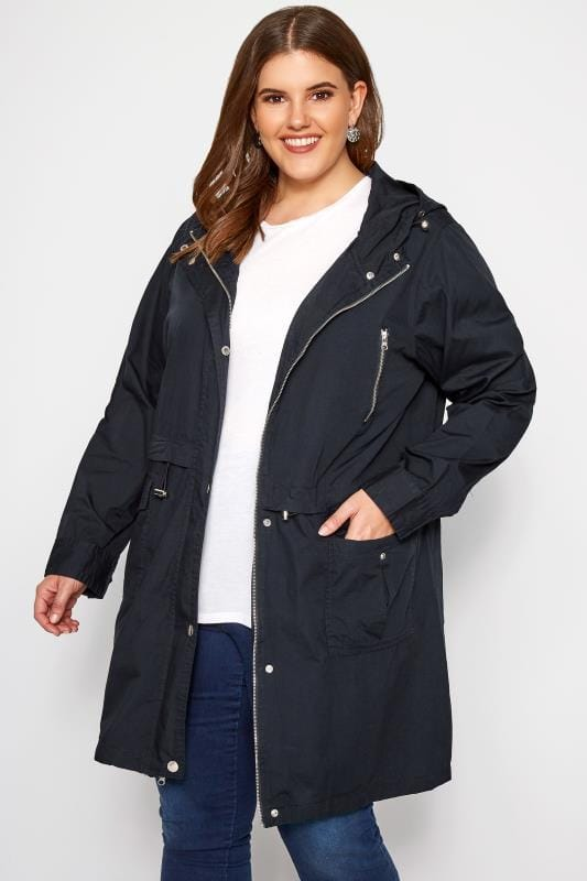 Navy Zip Through Jacket