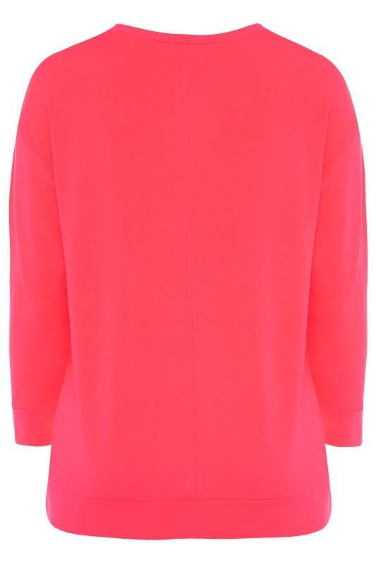 """Sweatshirt mit """"All About Me"""" Schriftzug - Neon-Pink"""