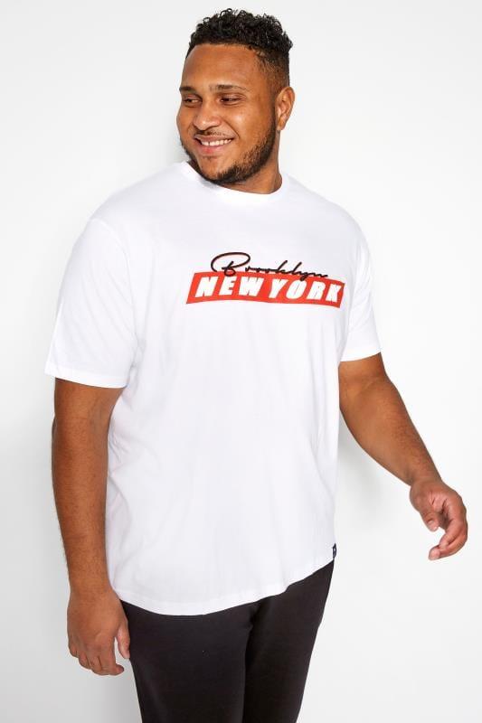 BadRhino White New York Slogan T-Shirt