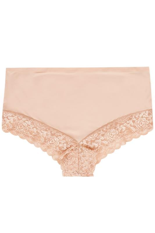 Nude Lace Trim Briefs