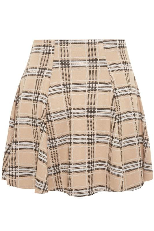 LIMITED COLLECTION Stone Check Print Skater Skirt