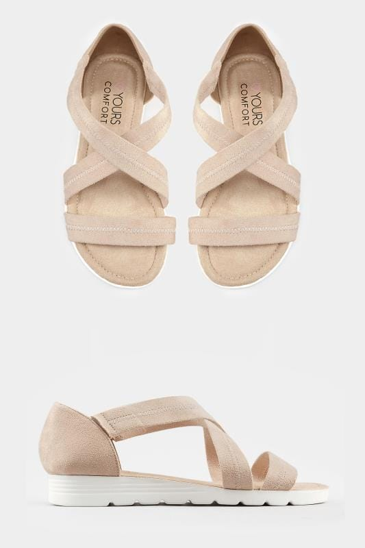 Nude Closed Back Cross Over Sandals