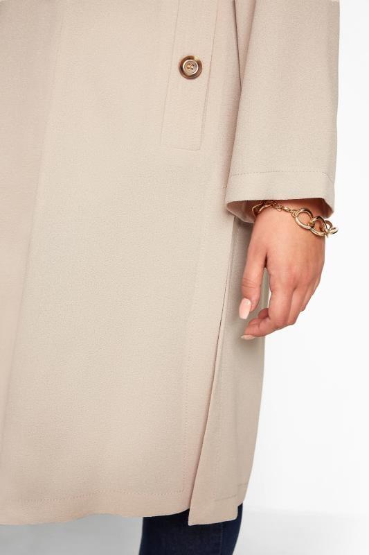 Nude Crepe Longline Jacket