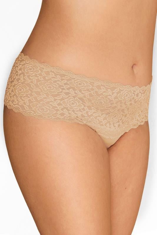 Plus Size Briefs & Knickers Nude Lace Brazilian Briefs