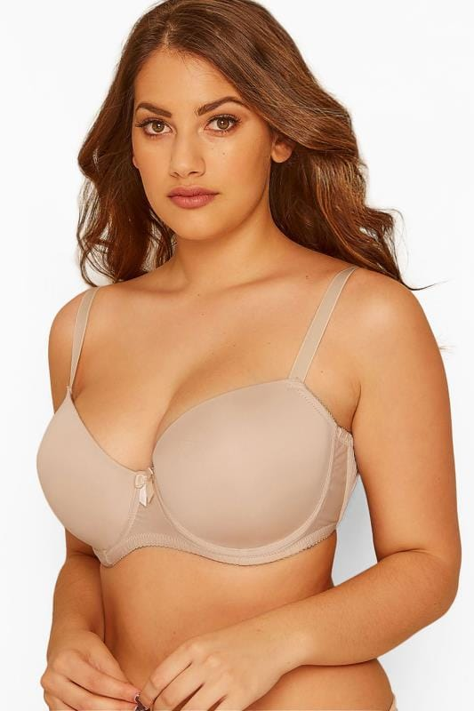 Большие размеры | Plus Size T-Shirt Bras Nude Moulded T-Shirt Bra - Best Seller