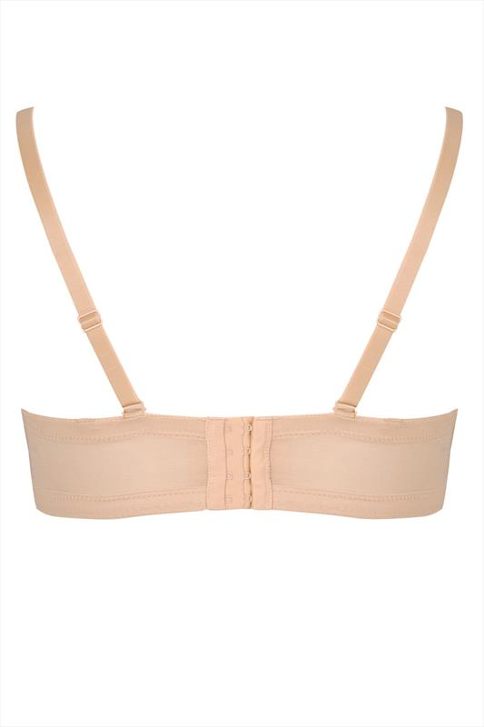 Nude Multiway Microfibre Lace Bra With Removable Straps