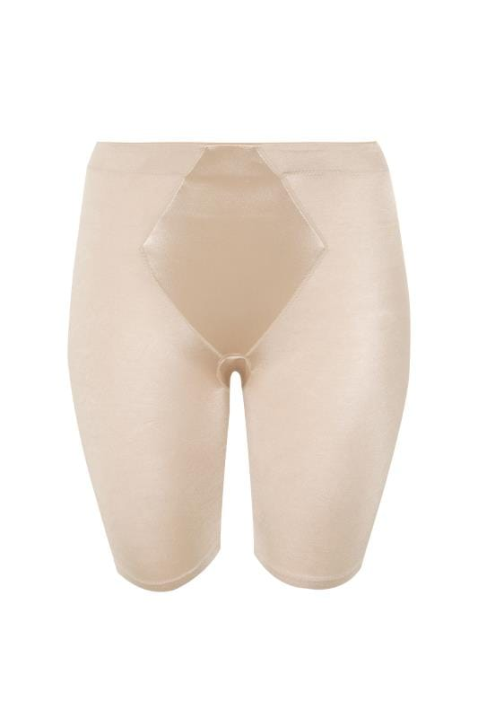 Nude Satin Control Short