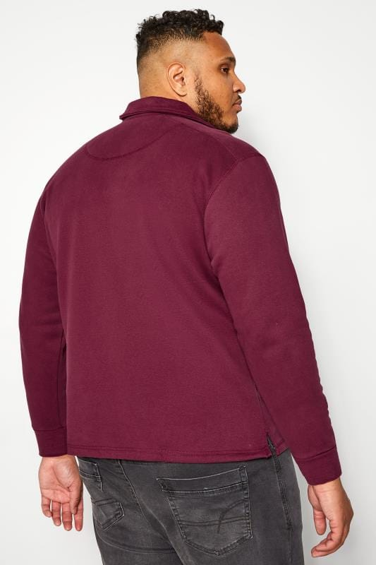 OLD SALT Burgundy Funnel Button Sweatshirt