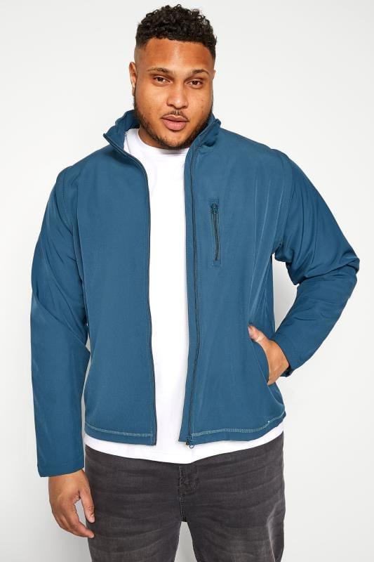 Plus Size Jackets OLD SALT Blue Soft Shell Jacket