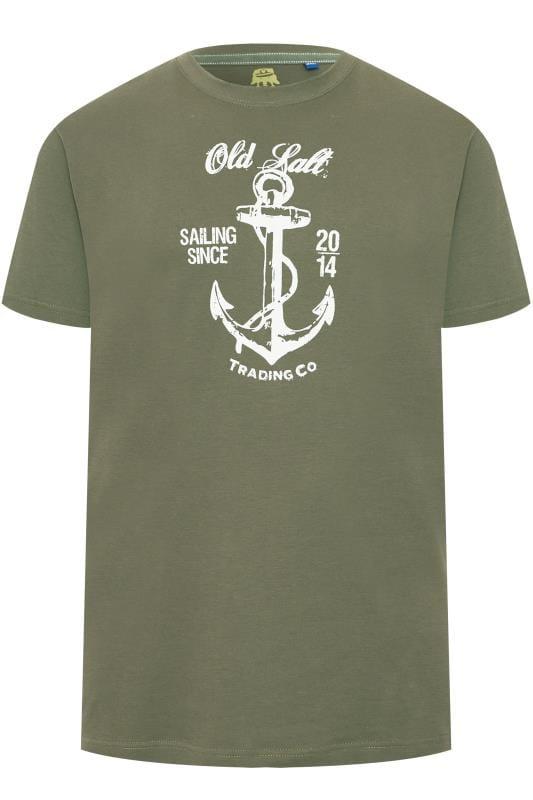 OLD SALT Khaki Anchor Graphic T-Shirt