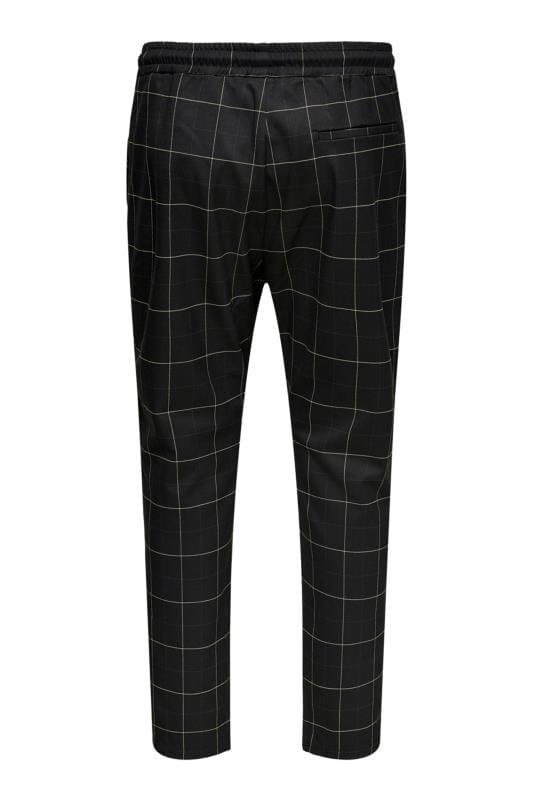 ONLY & SONS Black Check Trousers_37d9.jpg