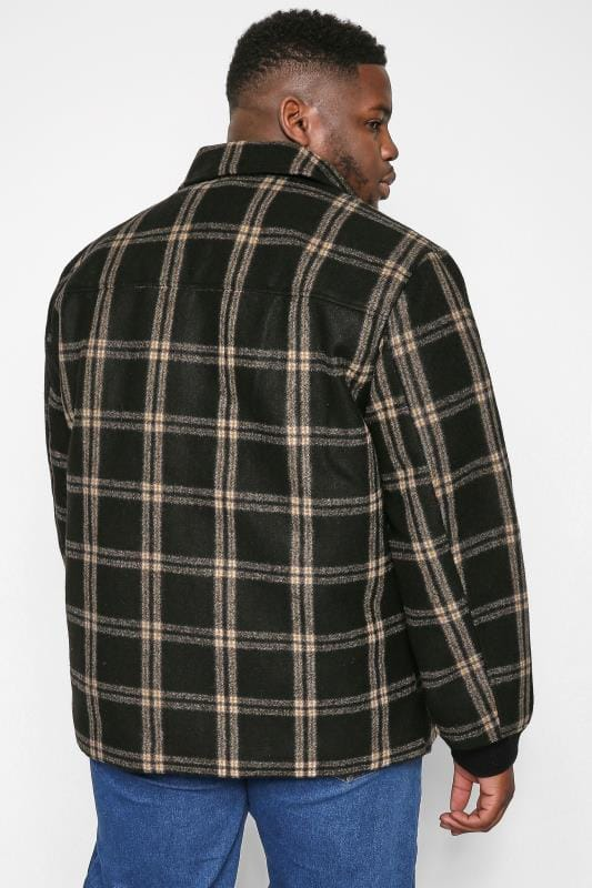 ONLY & SONS Brown Check Brushed Jacket