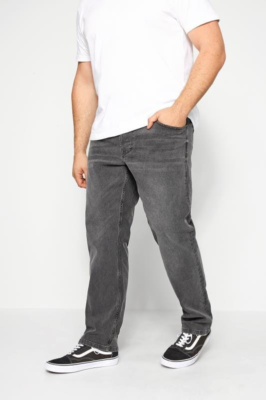 Plus Size Hats ONLY & SONS Grey Slim Fit Jeans