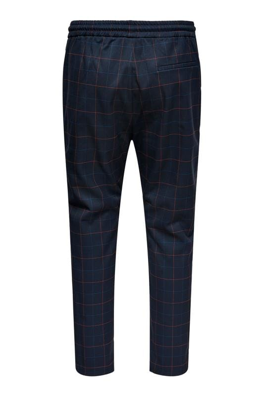 ONLY & SONS Navy Check Trousers_c9fe.jpg