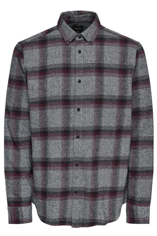 ONLY & SONS Grey Check Brushed Shirt