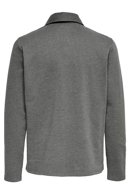 ONLY & SONS Grey Half Zip Sweatshirt