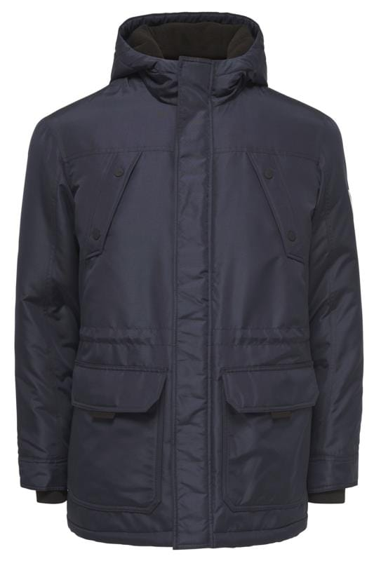 Coats Tallas Grandes ONLY & SONS Navy Parka Coat