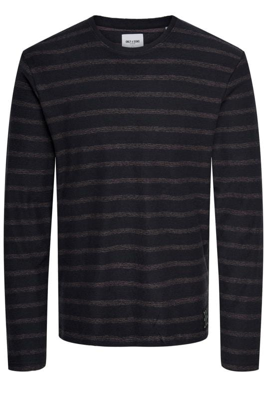 Jumpers Tallas Grandes ONLY & SONS Navy Striped Jumper