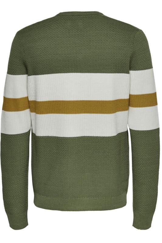 ONLY & SONS Green Stripe Jumper