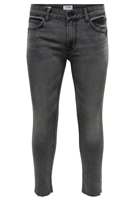 Slim Tapered ONLY & SONS Black Crop Skinny Fit Jeans