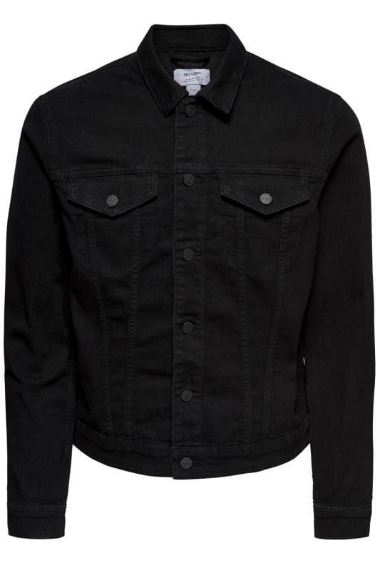 Jackets ONLY & SONS Black Denim Jacket 202125