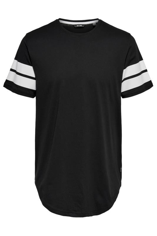 Plus Size Beauty ONLY & SONS Black Short Sleeve T-Shirt
