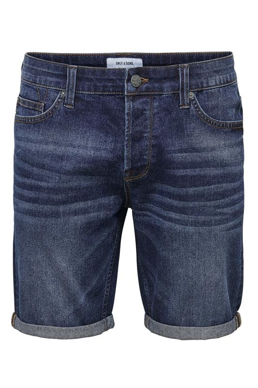 Plus Size Casual / Every Day ONLY & SONS Blue Denim Shorts