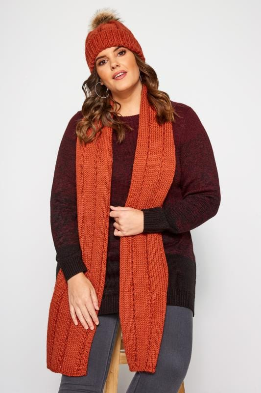 Orange Knitted Scarf