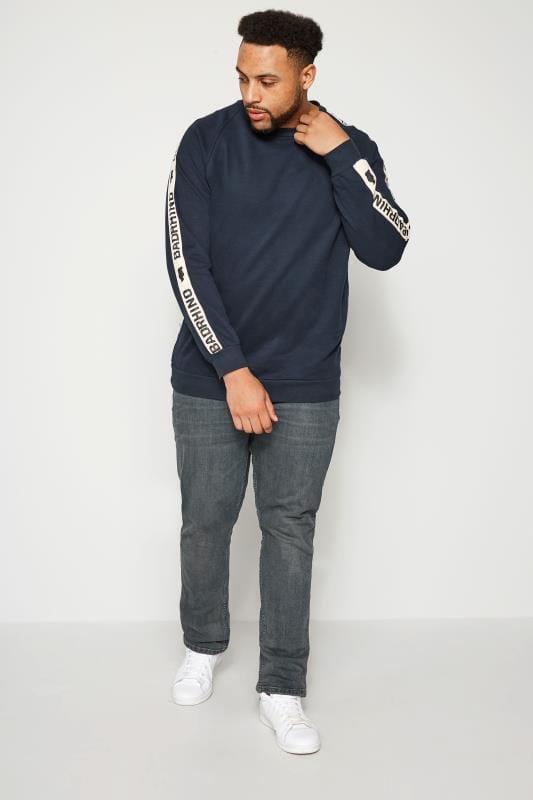 Slim Tapered dla puszystych ORIGINAL PENGUIN Dark Blue Vintage Washed Jeans