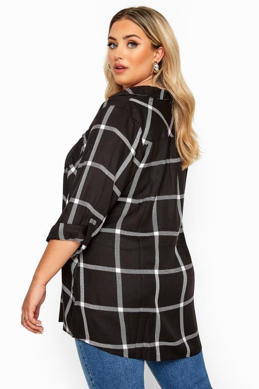 Black Check Overhead Shirt