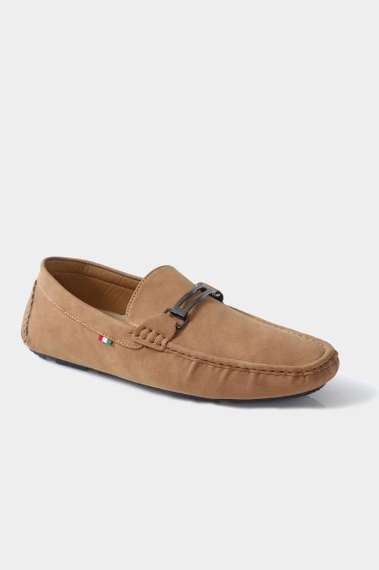 Footwear D555 Brown Slip On Moccasin Loafers