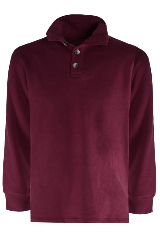 Sweatshirts dla puszystych OLD SALT Burgundy Funnel Button Sweatshirt