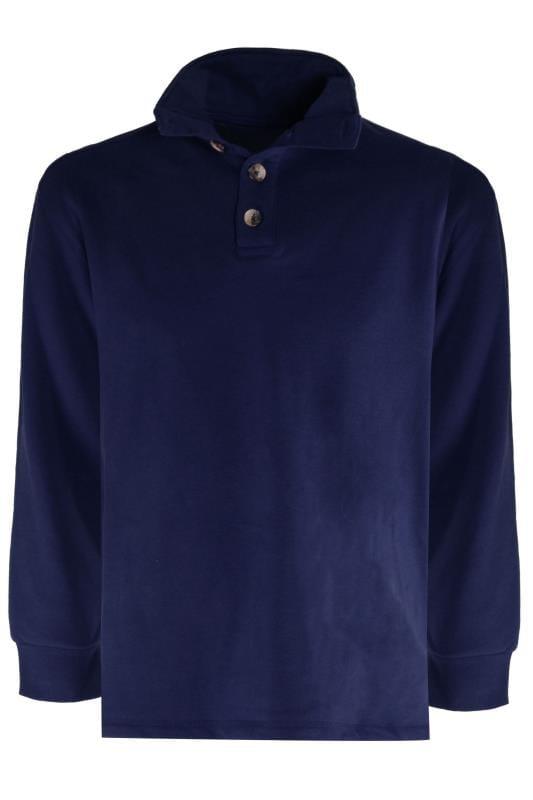 Sweatshirts OLD SALT Navy Funnel Button Sweatshirt 203357