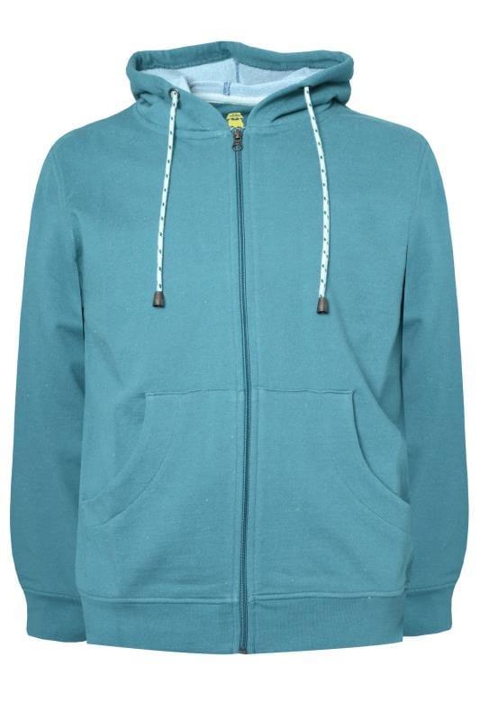 T-Shirts OLD SALT Green Zip Through Hoodie 203366