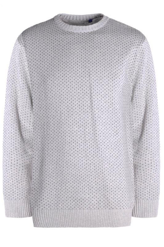 Men's Jumpers OLD SALT Grey Knitted Jumper