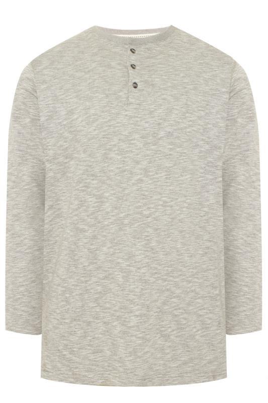 Plus Size Sweatshirts OLD SALT Mushroom Grey Grandad Collar Sweatshirt