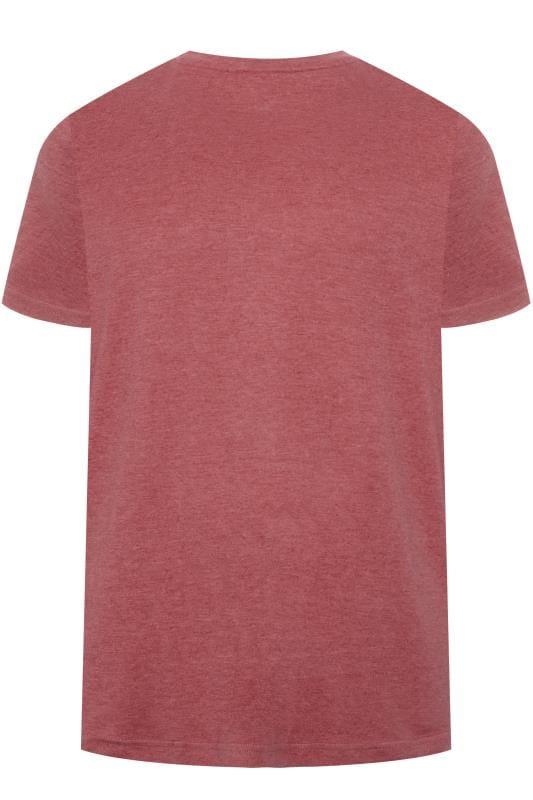 BAR HARBOUR Red Marl Plain Crew Neck T-Shirt