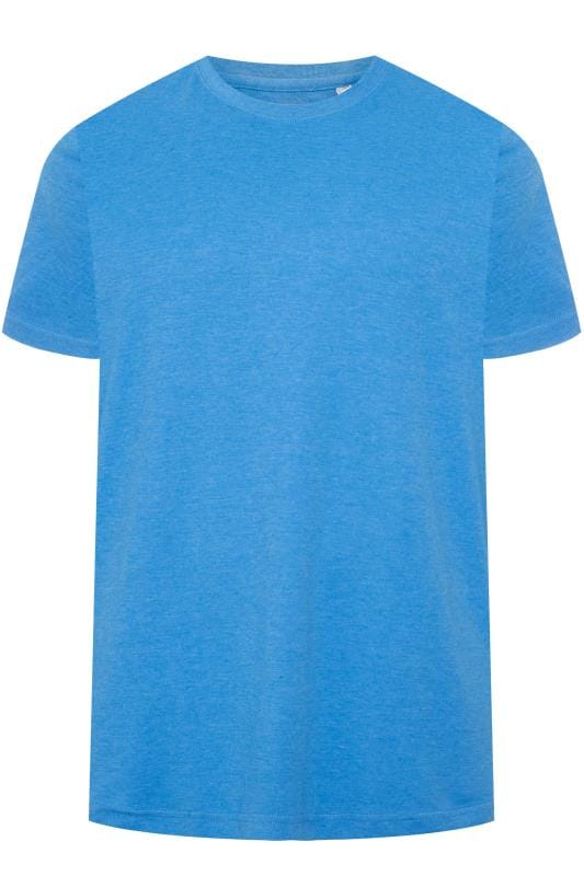 BAR HARBOUR Blue Plain Crew Neck T-Shirt