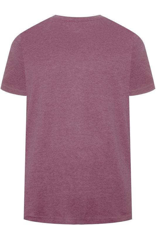 BAR HARBOUR Purple Marl Plain Crew Neck T-Shirt